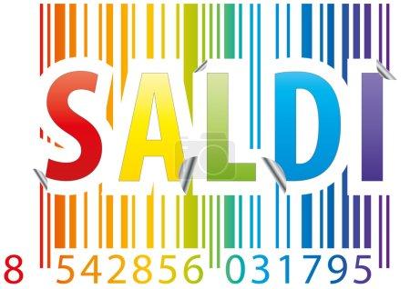 barcode saldi sticker