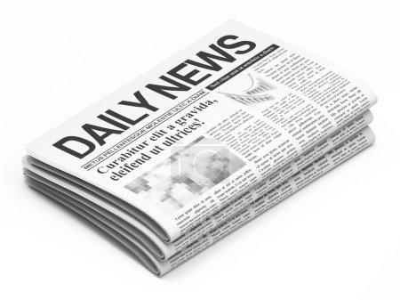 Foto de Periódicos sobre fondo blanco - Imagen libre de derechos
