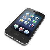 Krásné vysoce datailed černý smartphone