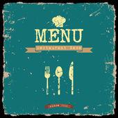 Vector restaurant menu Retro style design