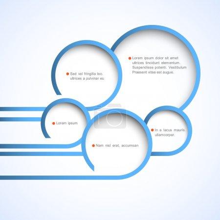 Illustration pour Bulles de conception web abstraites. Modèle de conception vectorielle - image libre de droit