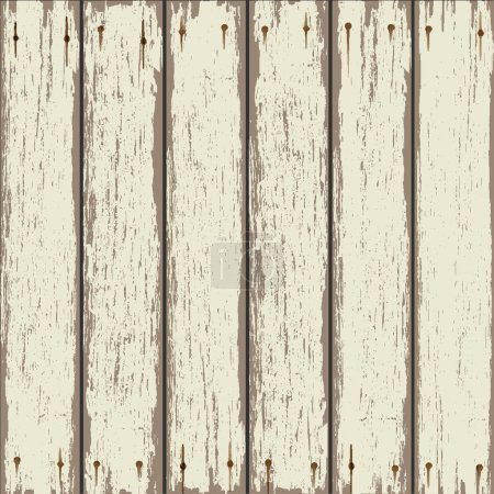 Illustration for Old wooden fence. Vector background - Royalty Free Image