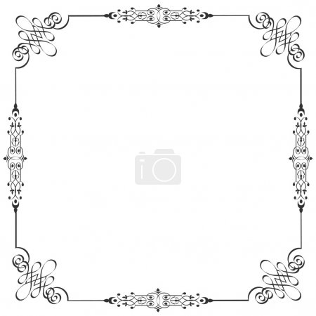 Illustration for Vector frame in vintage style - Royalty Free Image