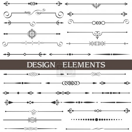 Illustration for Vector set of calligraphic design elements and page decor - Royalty Free Image