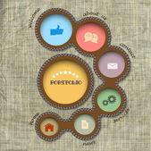 Vector web design template Retro style