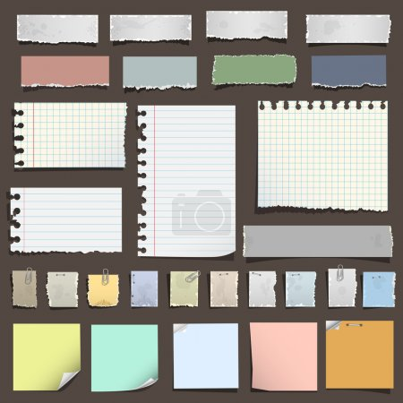 Photo for Collection of various notes paper. Vector eps10 - Royalty Free Image