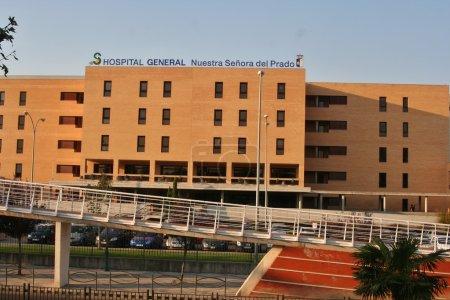 Photo pour Un hôpital public, un membre du service de santé de castilla-la mancha. SESCAM, ouvert en 1974 avec un remodelage structurel ambitieux est achevé en 2006. - image libre de droit