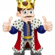 Cartoon illustration of a cute king with crown and...