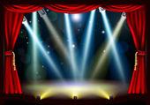 Spotlight theatre stage