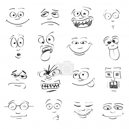 Emotions on faces