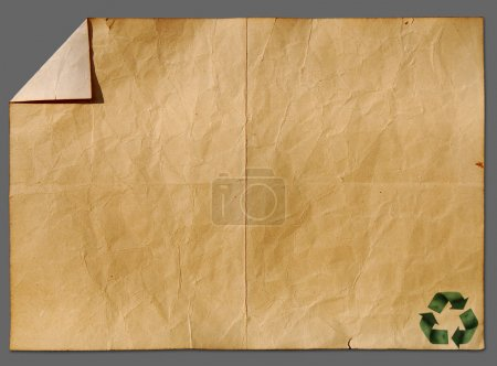 Recycled paper craft stick on old paper