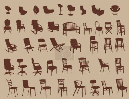 Illustration for Big set of chairs - Royalty Free Image