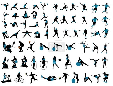 Illustration for Sports silhouettes - Royalty Free Image