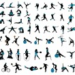 Sports silhouettes...