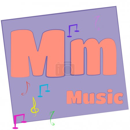M-music/Colorful alphabet letters