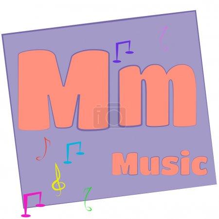 M-music/Colorful alphabet letters