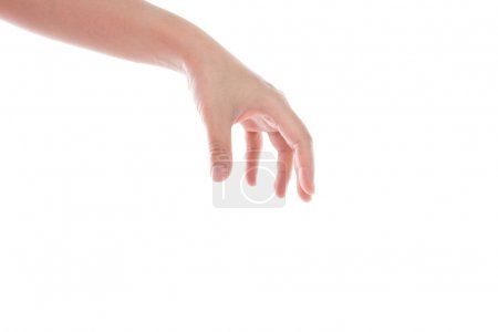 Women Hand reaching out isolated on white background