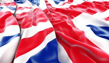 Photo pour British flag 3d - rendu - image libre de droit