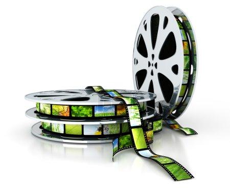Photo pour Film avec images - image libre de droit
