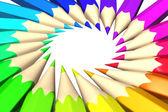 "Постер, картина, фотообои ""Радуга цветные карандаши"""