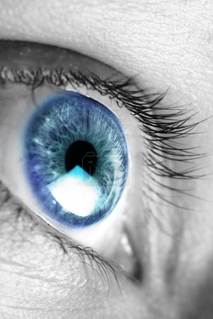 Photo for Bright blue eye closeup - Royalty Free Image