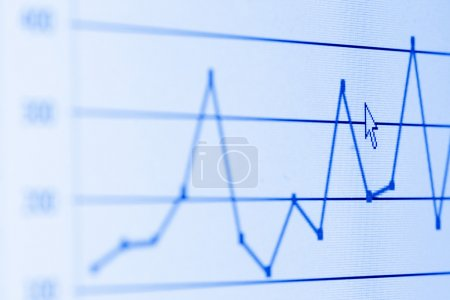 Photo for Bar graph on LCD screen - Royalty Free Image
