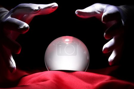 Glowing crystal ball