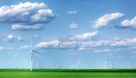 Landscape full of wind turbines