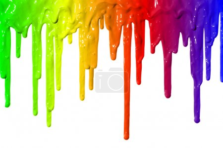 Photo for Different colors of paint dripping - Royalty Free Image