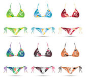 Collection of bikini in different colors