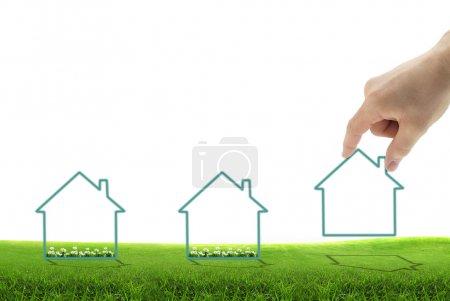 Photo pour Image conceptuelle d'un nouveau développement, pour les affaires immobilières ou la construction - image libre de droit