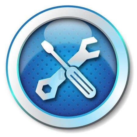 Photo pour Outil réparation icône web - image libre de droit