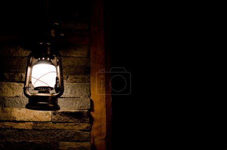 Lantern in darkness
