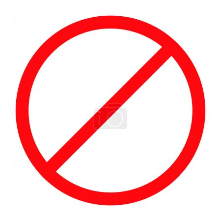 Forbidden sign isolated. Vector EPS8...