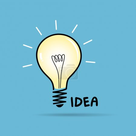 Illustration for Bulb light idea background, vector illustration - Royalty Free Image