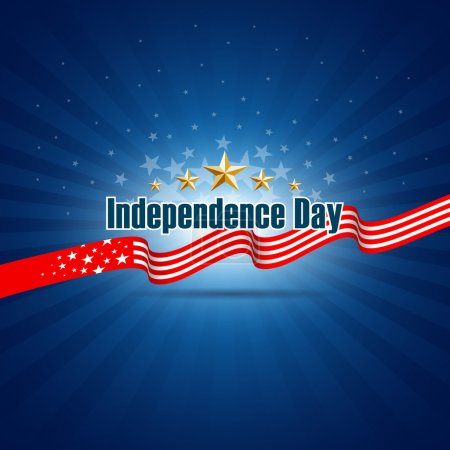 Illustration for Independence day template background, vector illustration - Royalty Free Image