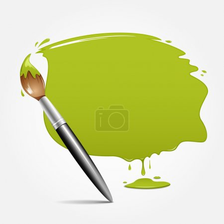 Paint brush. green space your text design
