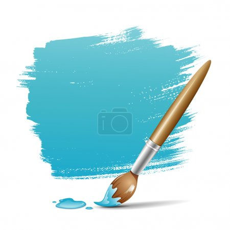 Paint brush. blue space your text design
