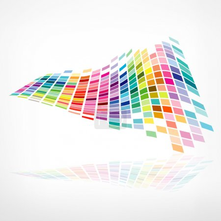 Colorful background mosaic pattern design, vector ...