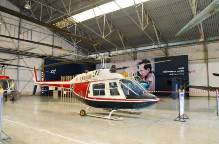 Helicopter on display at The Royal Thai Air Force Museum, Bangko
