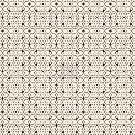 Illustration pour Modèle vectoriel sans couture en dentelle pointillée noire élégante - image libre de droit