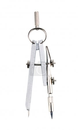 Drafting instrument isolated on white