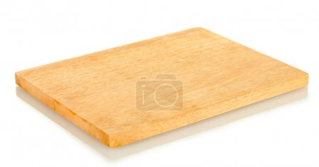 Photo for Cutting board isolated on white close-up - Royalty Free Image