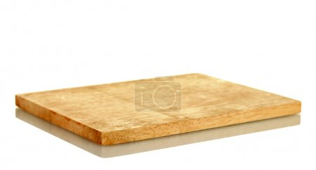 Cutting board isolated on white close-up