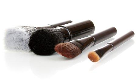 Cosmetic brushes isolated on white