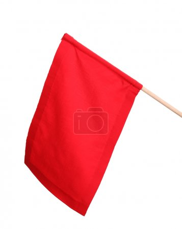 Red signal flag isolated on white