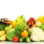 Fresh vegetables isolated on white...