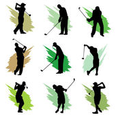 Golf silhouette design