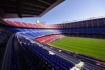Wide view of FC Barcelona (Nou Camp) soccer stadium