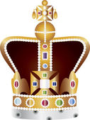 English Coronation Crown Jewels Illustration